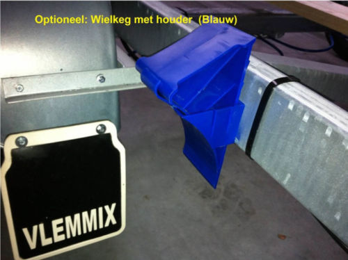 Unterlegkeil mit Halter (blau)